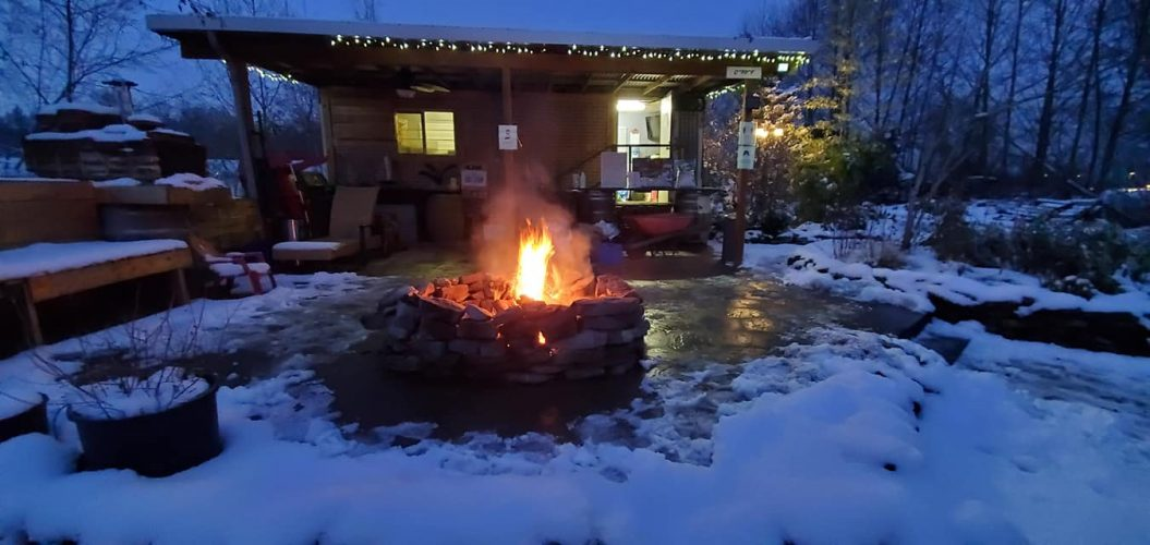 We enjoy a fire in the winter too!